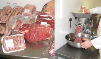On site butchery - fresh meat produced at Radmore Farm Shop